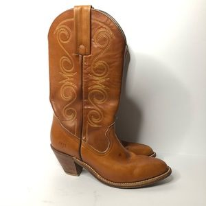 Frye Western Pull On Pointed Toe Cowboy Boots